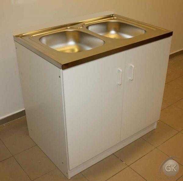 800x500 PLUSZ Komplett 2 MEDENCÉS nyílóajtós mosogatószekrény
